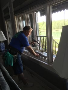 window cleaning inside house